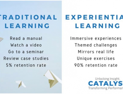 What's the difference between traditional learning and experiential learning?